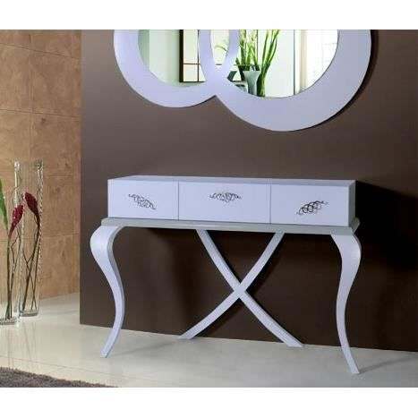 console baroque laqu e blanche achat vente console. Black Bedroom Furniture Sets. Home Design Ideas