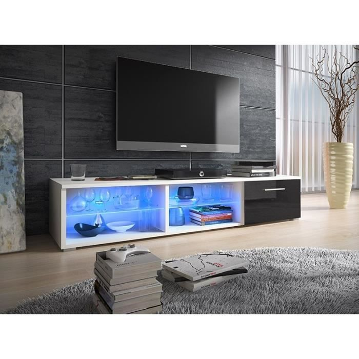 meuble tv design avec led cannes achat vente meuble tv meuble tv design avec led c cdiscount. Black Bedroom Furniture Sets. Home Design Ideas