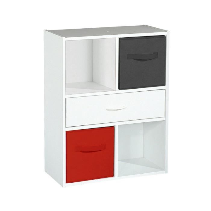 vichy rangement 4 cases 1 tiroir blanc achat vente biblioth que vichy rangement 4. Black Bedroom Furniture Sets. Home Design Ideas