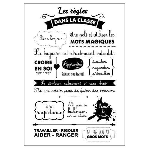 Les regles de la classe 210x297 mm adh sif permanent for Poster porte wc