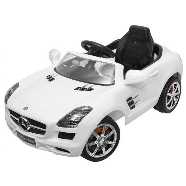 voiture lectrique 12v mercedes sls blanche achat. Black Bedroom Furniture Sets. Home Design Ideas