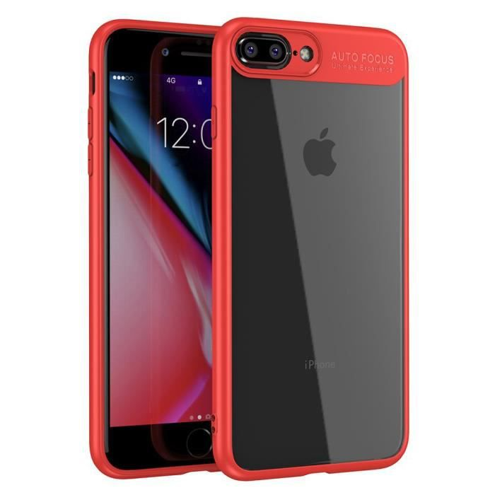 coque iphone 8 plus tpu bumper rouge protection an