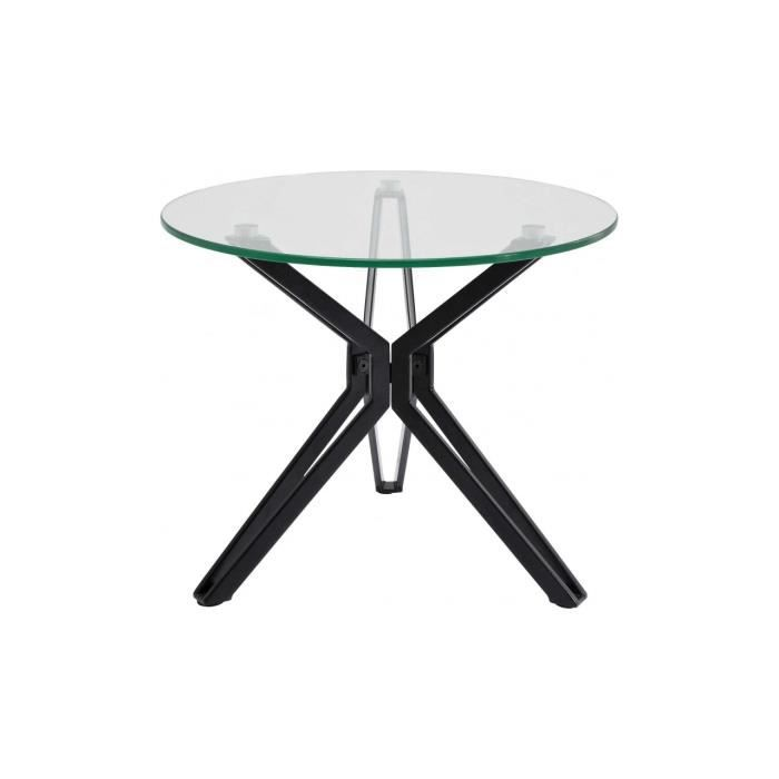 table d 39 appoint industriel ronde garbo 55 cm achat vente table d 39 appoint table d 39 appoint. Black Bedroom Furniture Sets. Home Design Ideas