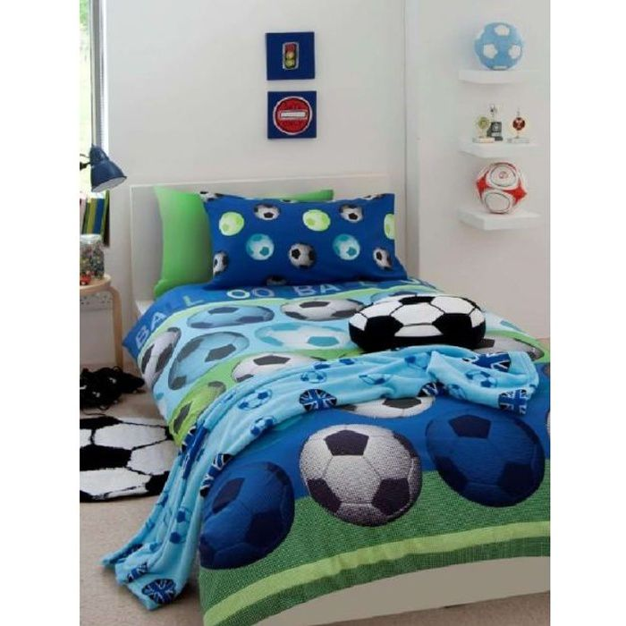 football parure de lit housse de couette 2 achat. Black Bedroom Furniture Sets. Home Design Ideas