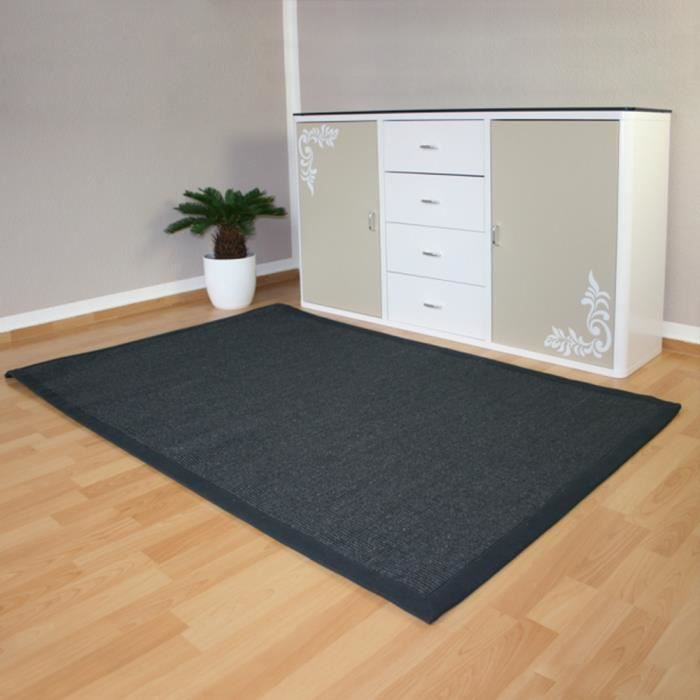 tapis de sisal fibre naturelle coloris assortis achat vente tapis cdiscount. Black Bedroom Furniture Sets. Home Design Ideas