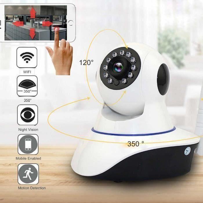 720P numérique sans fil WiFi Baby Monitor 2 voies audio caméra vidéo Motion Detect