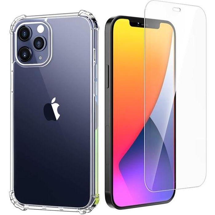 Coque iPhone 12 Pro Transparente 2× Verre trempé