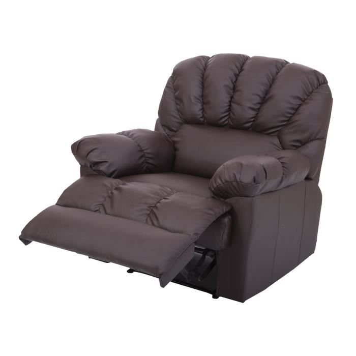 fauteuil de massage lectrique chauffant massant achat vente fauteuil marron cdiscount. Black Bedroom Furniture Sets. Home Design Ideas