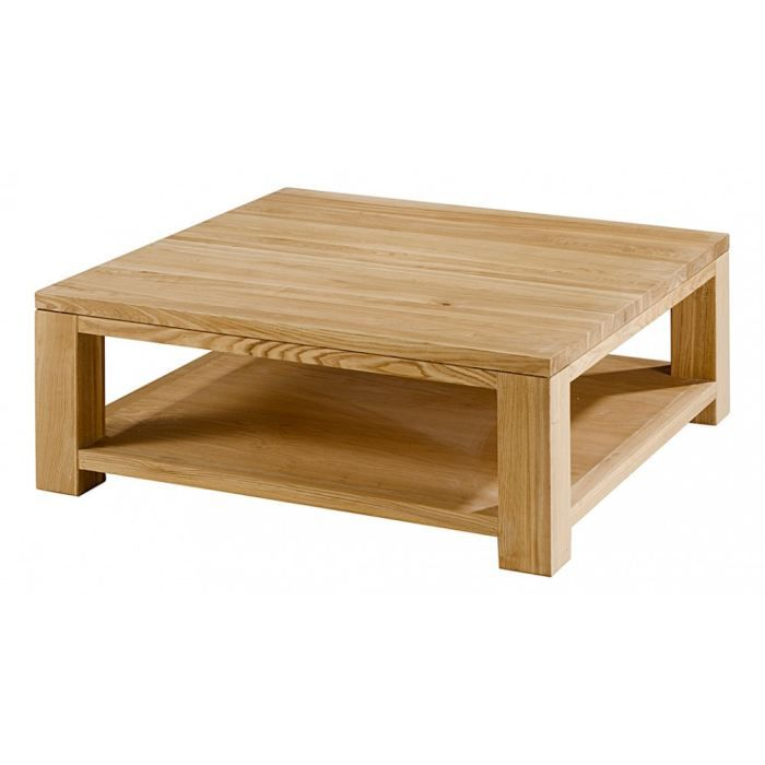 Table basse carr e en fr ne 2 plateaux essentie achat for Table de salon escamotable
