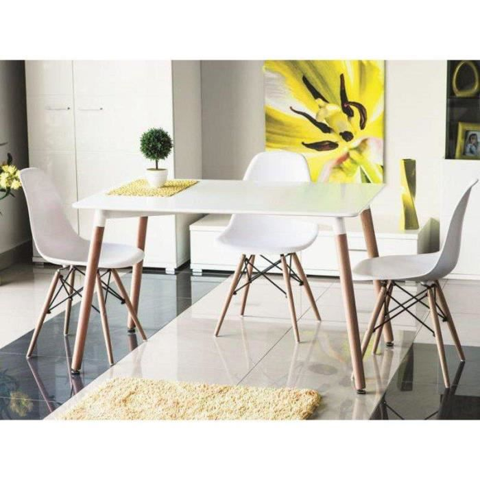 Justhome nolan 80 x 120 table de salle manger blanc 73 x for Table salle a manger 80 cm