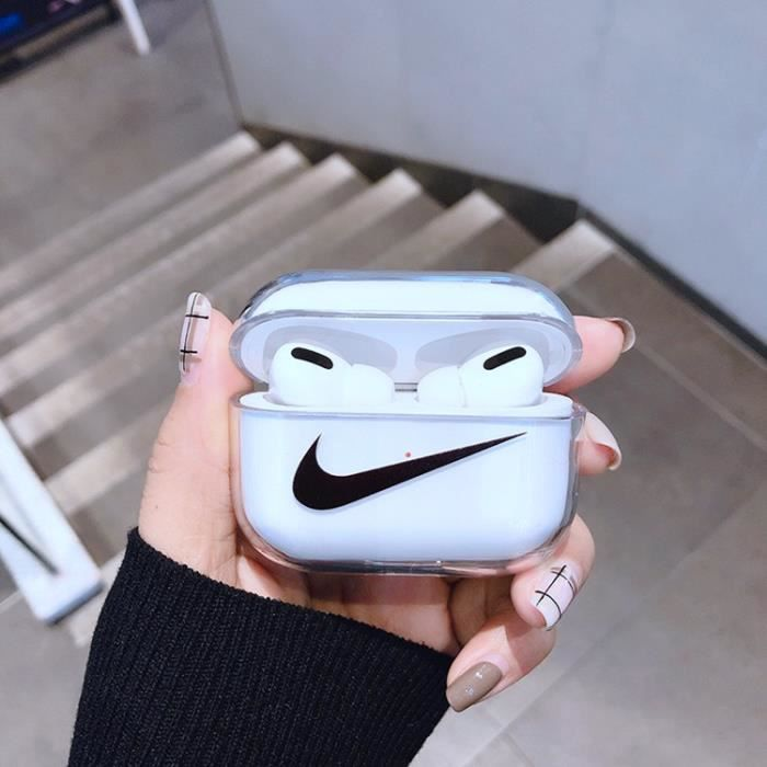 Coque AirPods PROKENZO Blanc Noir A Protection Coque en Silicone Anti Choc Compatible Android Apple iPhone AirPods PRO