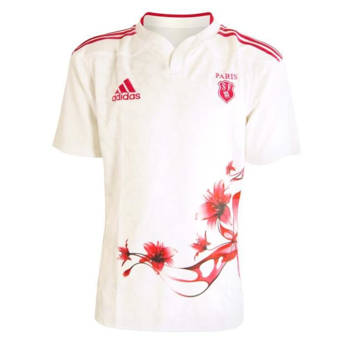 maillot de rugby stade fran ais blanc achat vente maillot polo adidas stade fran ais. Black Bedroom Furniture Sets. Home Design Ideas