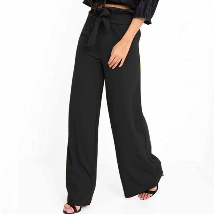 Pantalon*Pantalon Femme Taille Haute Haut-