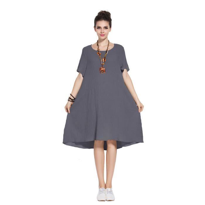 Ingénieux robe robe d/'été taille 44 ** shirt robe tunique bleu 100/% coton