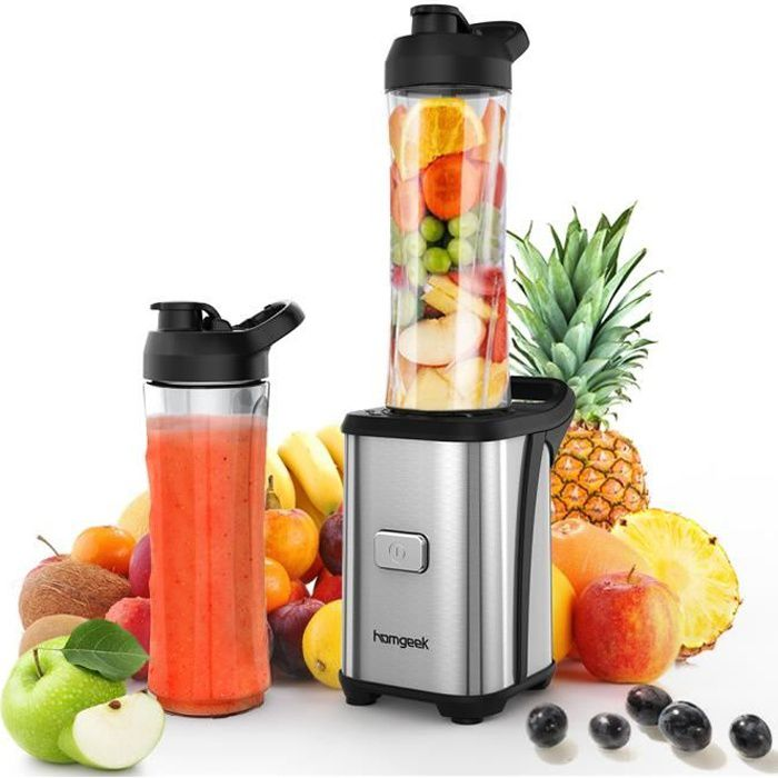 EXTRACTEUR DE JUS Homgeek Mini 350W Extracteur de jus fruits légumes