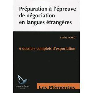 MANUEL BTS Préparation à l'épreuve de négociation en langues