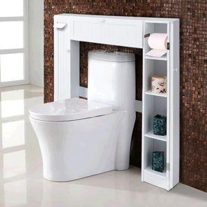 COLONNE - ARMOIRE WC Etagère de Toilette en MDF laqué Etagère de WC Eta