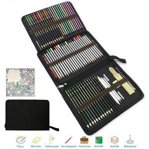 CRAYON DE COULEUR Crayon de Couleur Kit de Dessin Pro,meilleur crayo