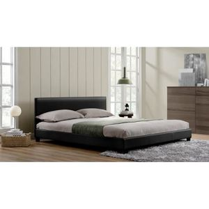 cadre de lit 160x200 achat vente cadre de lit 160x200. Black Bedroom Furniture Sets. Home Design Ideas