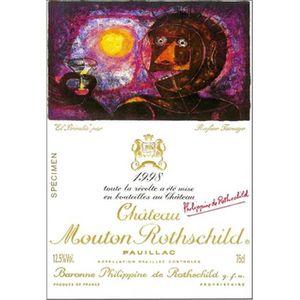 VIN ROUGE Château Mouton Rothschild - Pauillac 1998 1er Cru