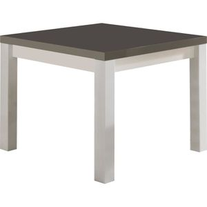 Table laquee blanche carree achat vente table laquee for Table a manger blanche et grise