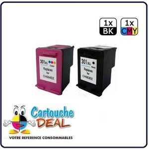 CARTOUCHE IMPRIMANTE HP 301XL- OfficeJet 2620 4630 4632 Lot de 2 cartou