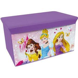 COFFRE À JOUETS Fun House Disney princesses banc de rangement plia