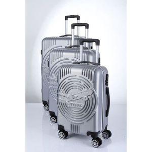 SET DE VALISES CITY BAG Set de 3 Valises Trolley ABS 4 roues Arge