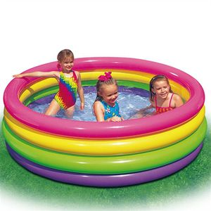 PATAUGEOIRE INTEX Piscine Gonflable Enfant Arc en ciel Sunset
