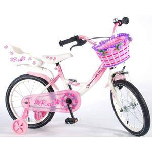 VÉLO ENFANT Vélo Enfant Fille 16 Pouces Rose Frein Avant sur L