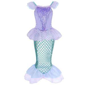 DÉGUISEMENT - PANOPLIE AmzBarley Filles Sirène Robe Princesse Costume Les