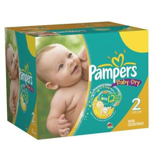 COUCHE Pack économique de 252 Couches Pampers Baby Dry de
