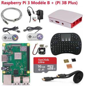 CARTE MÈRE Raspberry Pi 3 Model B+ (Pi 3 B Plus) SD 16Go Retr