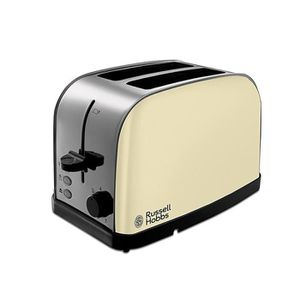 GRILLE-PAIN - TOASTER Russell Hobbs 18783 Crème 2 Tranches Larges Fentes
