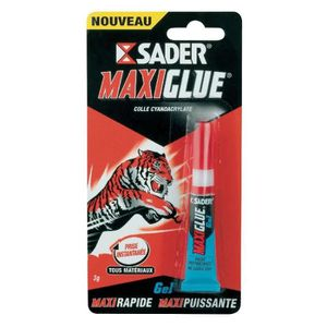 COLLE - PATE FIXATION Tube de 3g de colle GEL Maxiglue - SADER - colle c