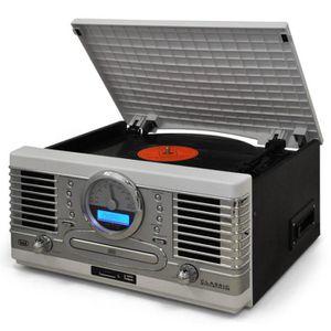 CHAINE HI-FI Chaîne stéréo rétro lecteur CD K7 LP Radio MP3