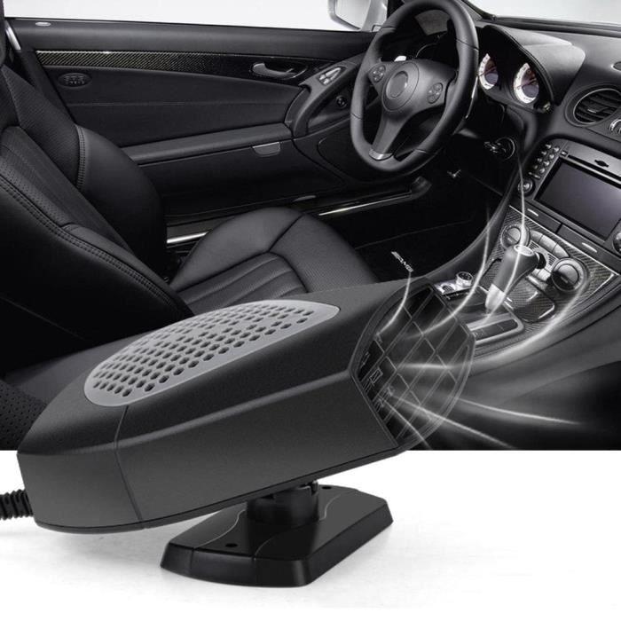 12V 150W Chauffage Voiture Ventilateur Ventilateur Allume Cigare Chaud Froid Ventilateur Auto Dégivrage Rapide de Pare-brise -ALA