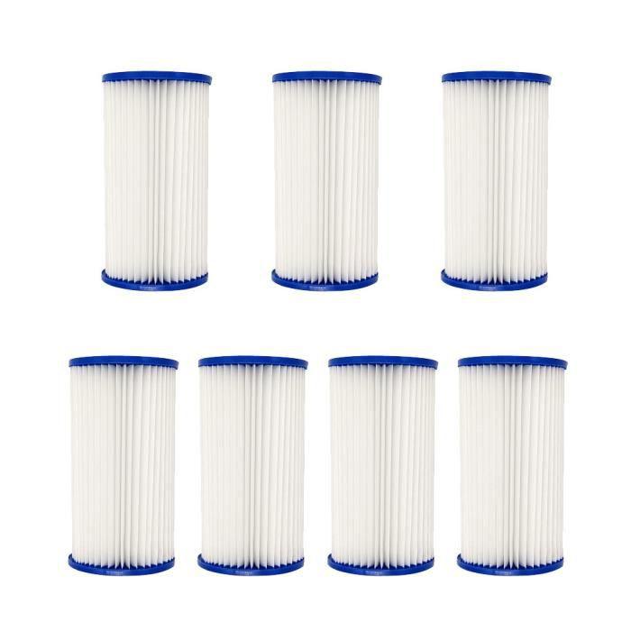【Kit piscine】Cartouche de filtre de piscine 7PC pour pompe de filtre 28604 pour type III ou A - C_YU416