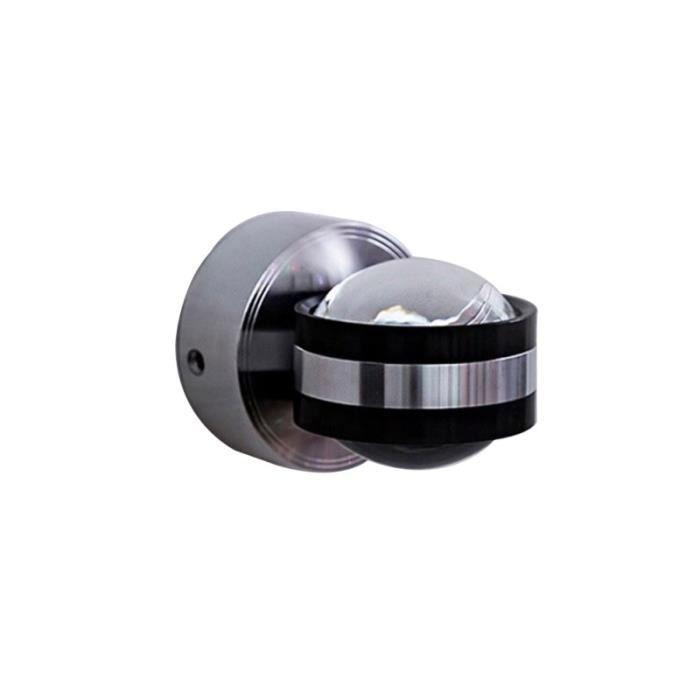 Aluminium moderne LED Applique TV Fond Double face mur cristal Projecteur 85-220V 3W lampe de chevet chambre INTERIOR APPLIQUE