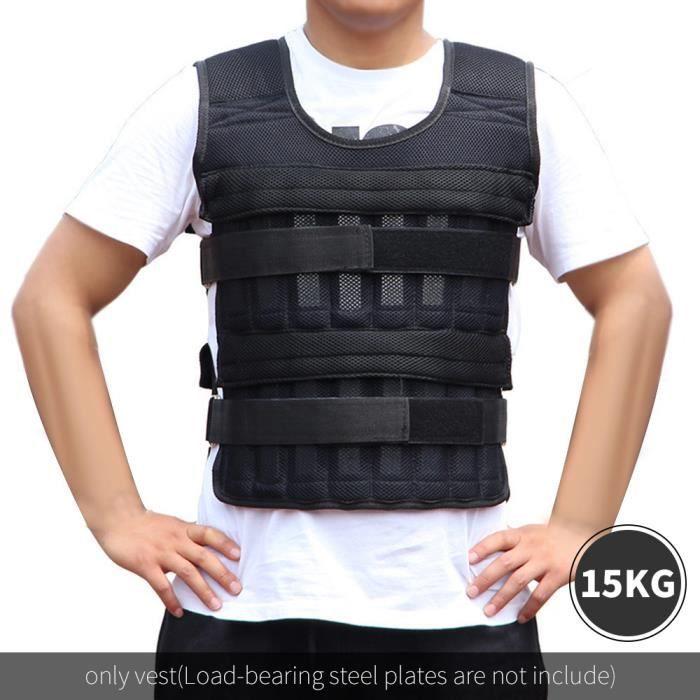 Équipement de boxe taille manteau réglable veste noire Peut charger 15 kg