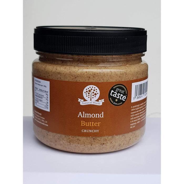 Nutural World - Beurre d'Amande croustillant (1kg) - *** nouvel emballage