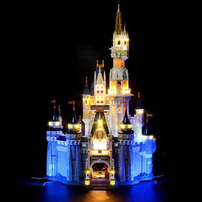 Jeux de construction LIGHTAILING Jeu De Lumières pour (Disney Castle) Modèle en Blocs De Construction - Kit De Lumière A 52448