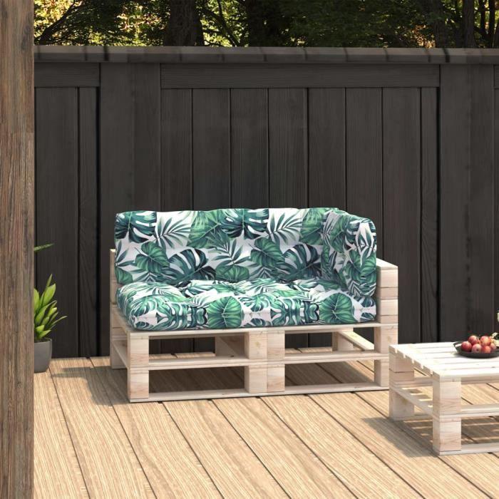 ��NEW©Parfait-Coussins de canapé palette 3 pcs - Coussin matelassé pour palette - Coussin pour banc de jardin Banquette Motif 9973