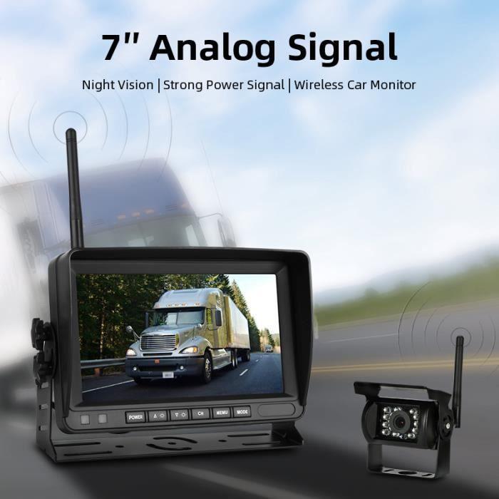 7 pouces caméra de recul sans fil caméra de recul caméra de voiture caméra de recul Vision nocturne support en forme de U 12V-24V