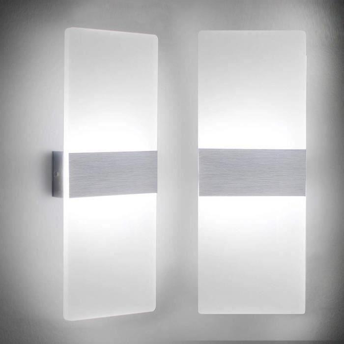 Applique Murale LED 12W Lampe Moderne Design Up and Down Luminaires Muraux Intérieur de mur Lampe(1PCS)