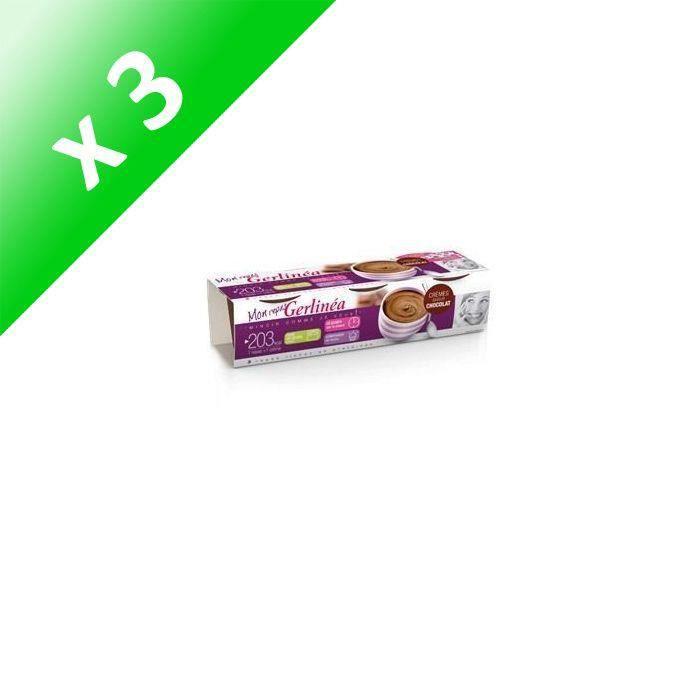[LOT DE 3] Coupelles creme chocolat pack de 3x210G Gerlinéa