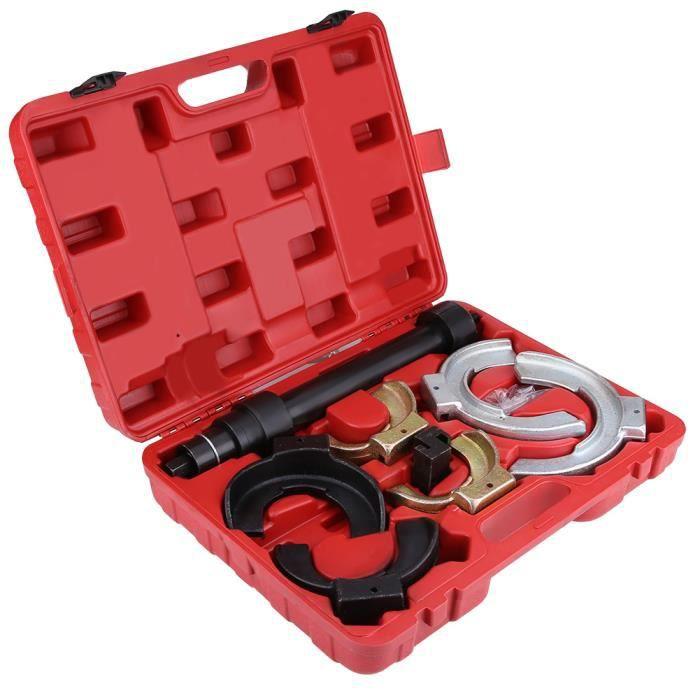 Compresseur de Ressort d'Amortisseurs Auto Moto avec Ressorts 80 mm à 190 mm + 1 Coffret Rouge 116103 -COO #487