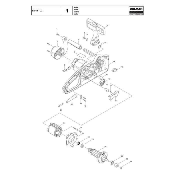 Dolmar -3441 Ressort de rechange ES-39 TLC - 660231640