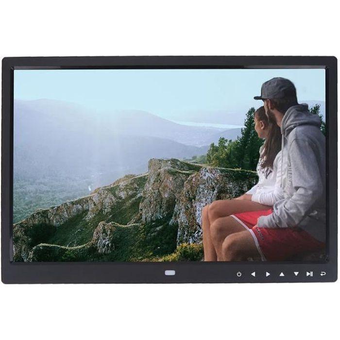 DUOKON 15 -1280 * 800 HD écran tactile cadre photo numérique réveil lecteur de film (noir)-TIP