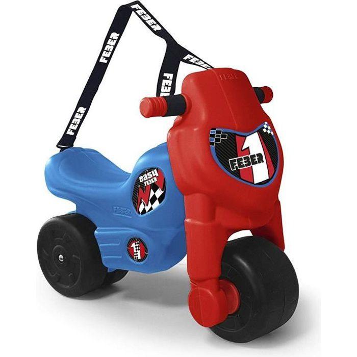 Porteur Motofeber Easy - bleue et rouge - FEBER - avec sangle de transport
